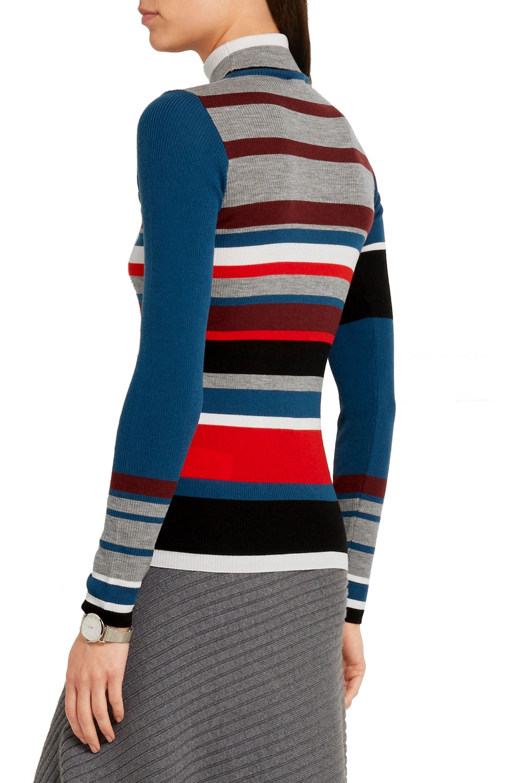 KENZO Striped wool turtleneck sweater