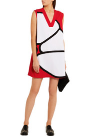 KENZO Paneled crepe mini dress
