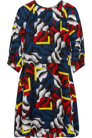 KENZO Printed silk mini dress