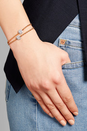 Sabbia 18-karat rose gold diamond bracelet
