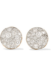 Sabbia 18-karat rose gold diamond earrings