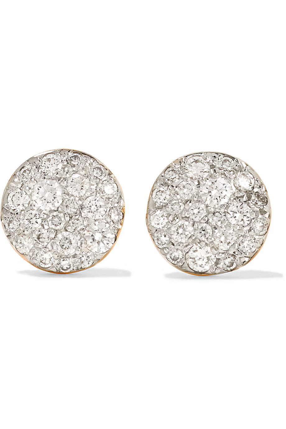 Sabbia 18-Karat Rose Gold Diamond Earrings, Rose Gold/Silver, Women's