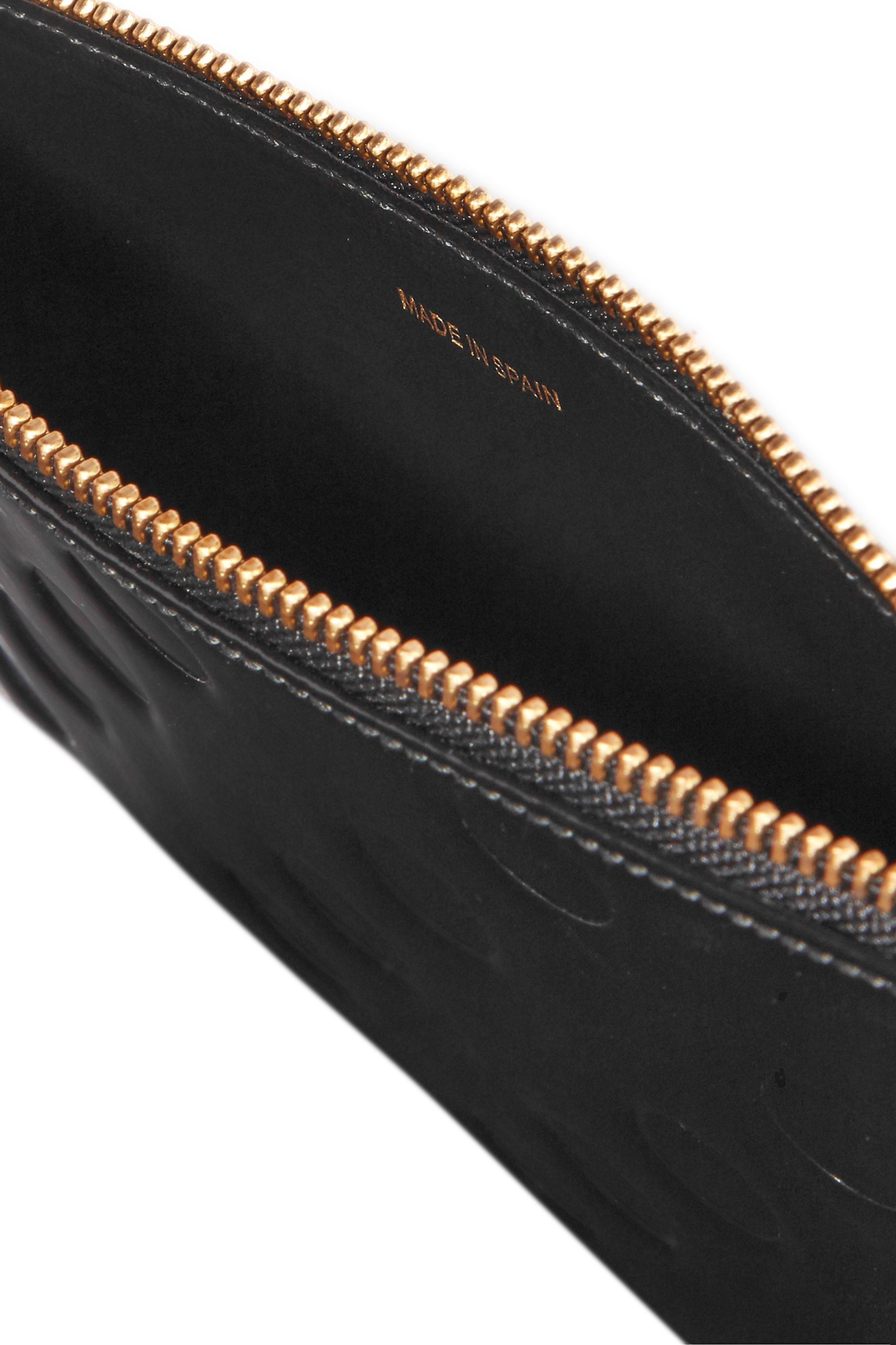 Comme des Garçons Embossed glossed-leather pouch