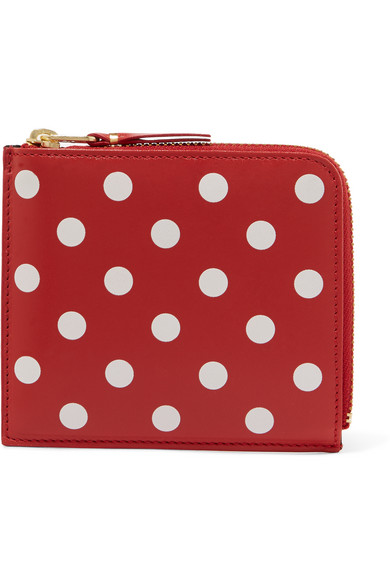 comme des garcons female comme des garcons printed leather wallet red