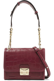 Karl Lagerfeld Mini croc-effect leather shoulder bag