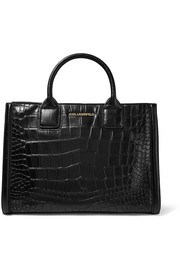 Klassik croc-effect leather tote