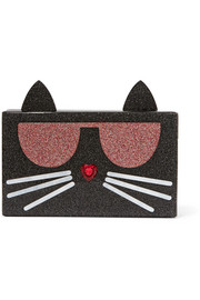 Karl Lagerfeld Kocktail embellished glittered acrylic clutch