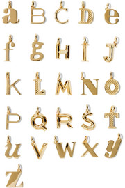 Monica Vinader A-Z Alphabet Letter gold-plated pendants