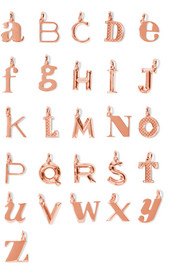 A-Z Alphabet Letter rose gold-plated pendants