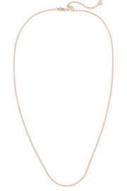 "Rolo 24"" rose gold-plated chain"