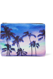 Haleiwa printed cotton-canvas pouch