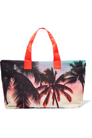 Makaha Sunset printed cotton-canvas holdall