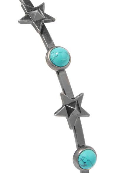 Valentino Silver-tone Turquoise Headband eZzt13n8