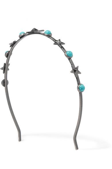 Valentino - Silver-tone Turquoise Headband