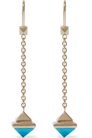 Valentino Gold-tone resin earrings