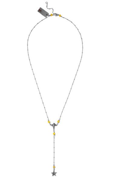 Valentino - Silver-tone Beaded Necklace