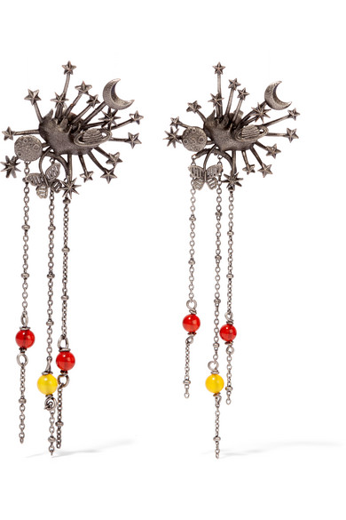 Valentino - Silver-tone Beaded Earrings