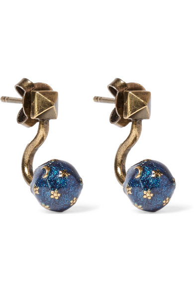 Valentino - Cosmic Planet Gold-tone Earrings