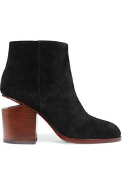 Gabi cutout suede ankle boots