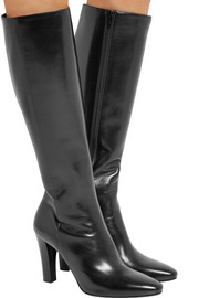 Saint Laurent Lily leather knee boots