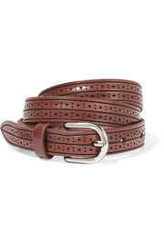 Kaylee laser-cut leather belt