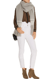 Isabel Marant Fringed striped cashmere scarf