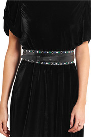 Daria embellished leather waist belt