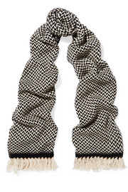 Étoile Isabel Marant Alena herringbone wool and cashmere-blend scarf