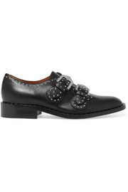 Studded brogues in black leather