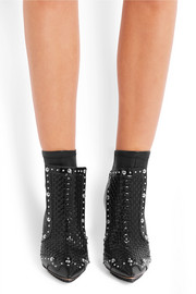 Givenchy Ankle boots in studded and woven stretch-leather