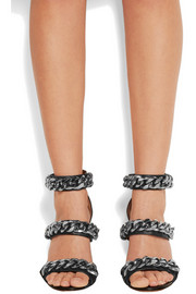 Givenchy Chain-embellished sandals in black leather