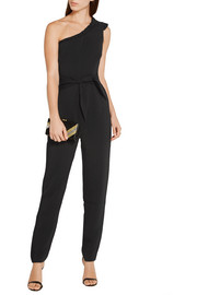 Alice one-shoulder stretch-crepe jumpsuit