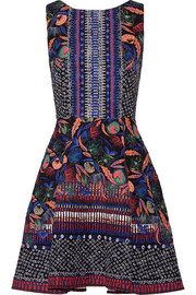 Jess printed cloqué mini dress