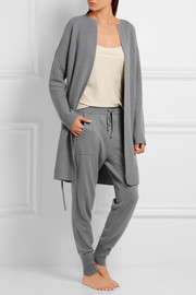 Morning wool and cashmere-blend track pants