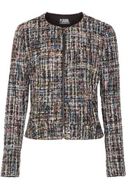 Karl Lagerfeld Metallic bouclé-tweed jacket