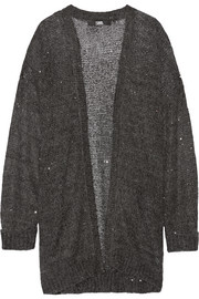 Karl Lagerfeld Sequin-embellished knitted cardigan