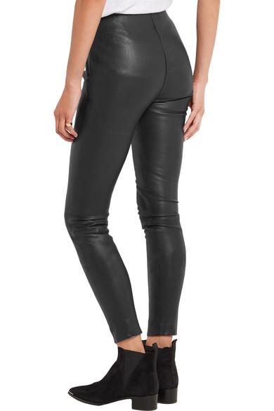 Karl Lagerfeld   Stretch-leather leggings   NET-A-PORTER.COM