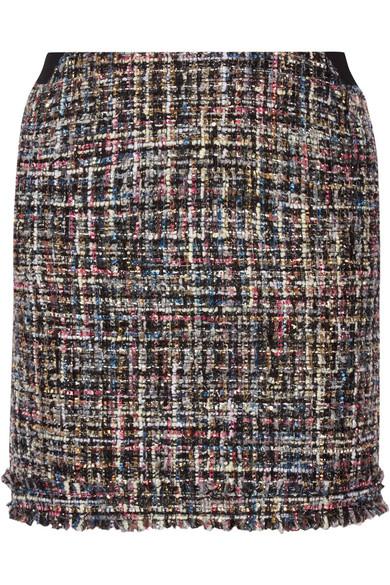 Karl Lagerfeld - Metallic Bouclé-tweed Mini Skirt - Black