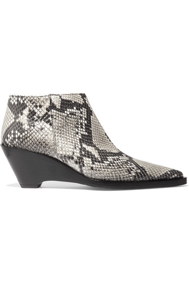 Acne Studios Cammie snake-effect leather ankle boots NET-A-PORTER.COM