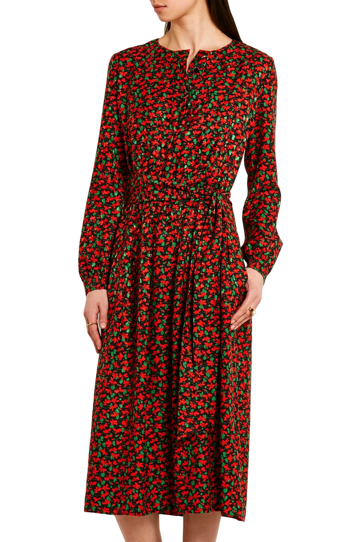 Vanessa Seward Cai floral-print silk-jacquard dress