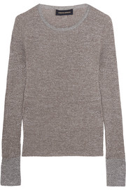 Champ metallic knitted sweater