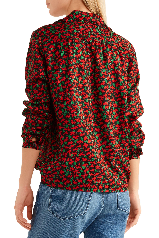 Vanessa Seward Caroline floral-print silk-jacquard blouse