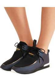 Balmain Doda leather and neoprene sneakers