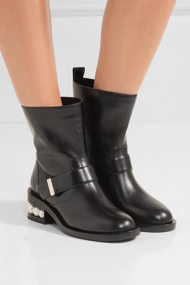 Nicholas Kirkwood Embellished leather ankle boots 8ilqXlRiw6