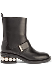 Casati embellished leather biker boots