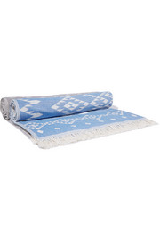 Set of two printed woven cotton towels