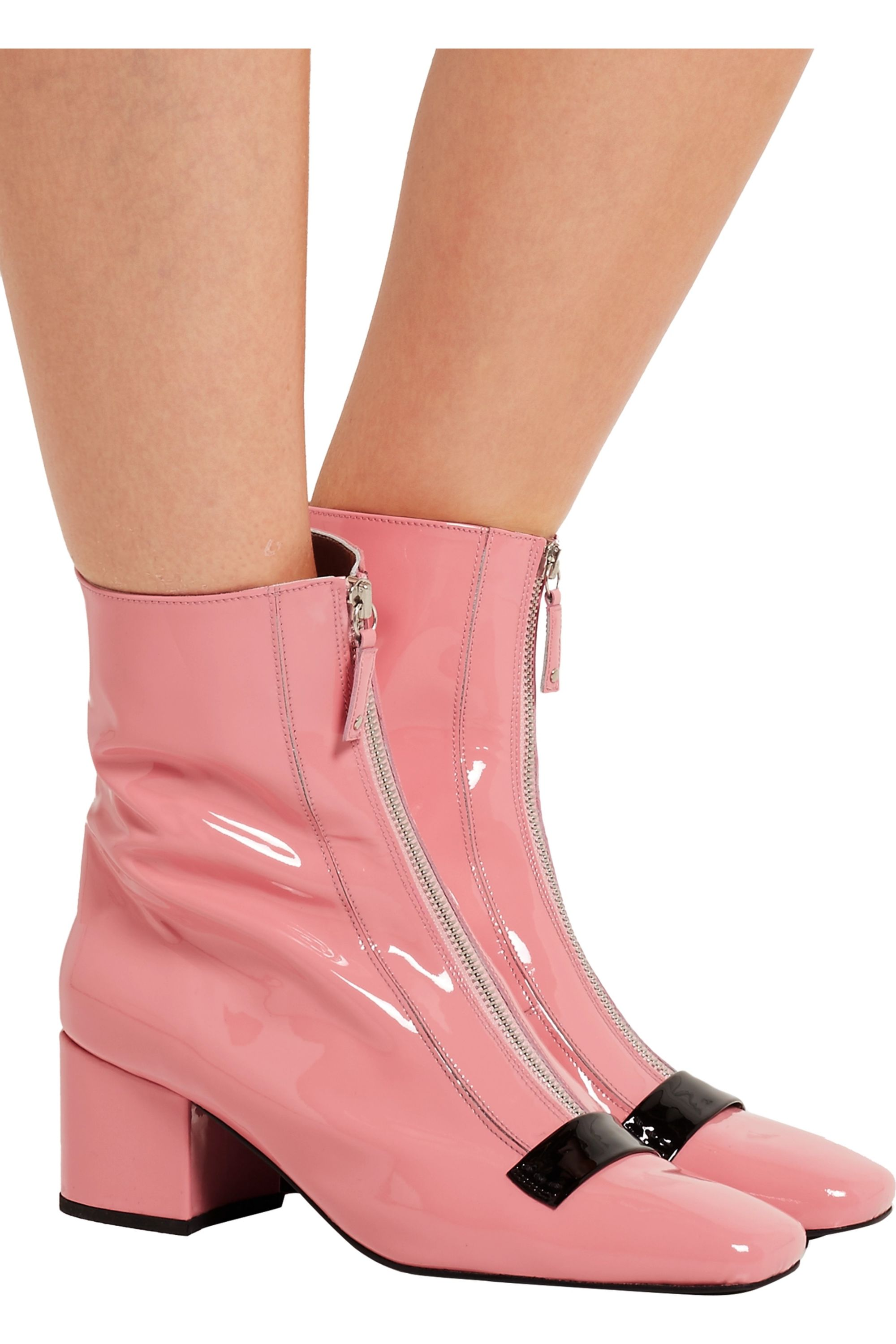 DORATEYMUR Double Delta patent-leather ankle boots