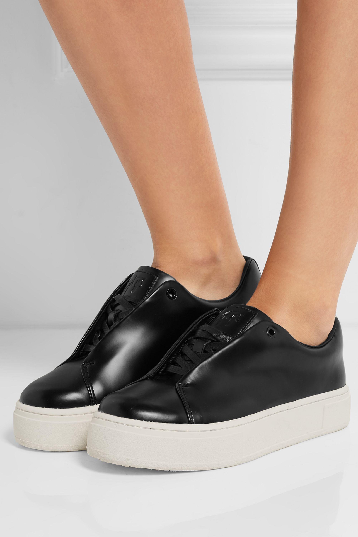Black Doja S-O leather sneakers   Eytys
