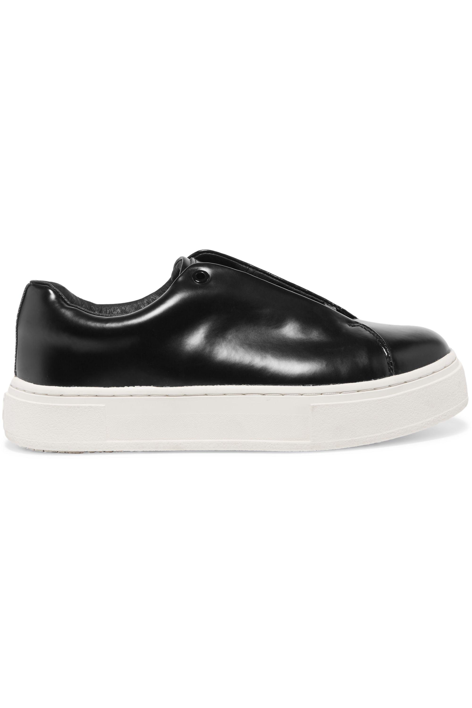Black Doja S-O leather sneakers | Eytys