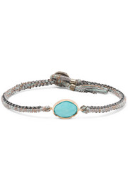 Brooke Gregson Orbit 14-karat gold, sterling silver and turquoise bracelet